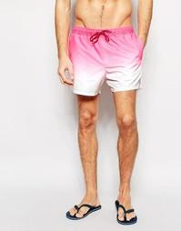 Розовые короткие шорты для плавания с эффектом деграде ASOS - Розовый