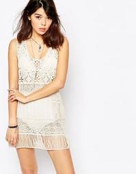 Ажурное платье без рукавов Brave Soul - Кремовый