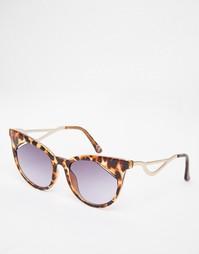 Солнцезащитные очки кошачий глаз ASOS - Черепаховый