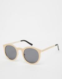 Солнцезащитные очки в круглой оправе с плоскими линзами ASOS - Розовый