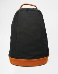Черный холщовый рюкзак с отделкой под замшу ASOS - Черный