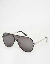 Солнцезащитные очки-авиаторы с плоскими стеклами ASOS - Черный
