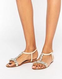 Декорированные сандалии Dune Nakeeta - Телесный
