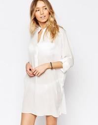 Пляжное платье-рубашка Echo - Белый