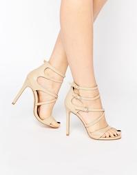 Сандалии на каблуке с ремешками Boohoo - Телесный