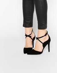 Туфли-лодочки с острым носком и перекрестными ремешками Boohoo