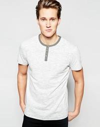 Винтажная футболка в тонкую полоску Threadbare - Серый