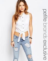 Рубашка с завязкой спереди Noisy May Petite - Белый
