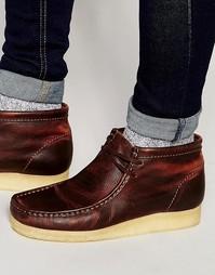 Кожаные ботинки Clarks Original Wallabee - Коричневый