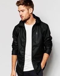 Черная куртка-дождевик с капюшоном Blend - Черный