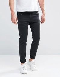 Черные джинсы скинни с кромкой из денима плотностью 13 унций ASOS