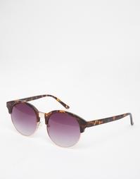 Круглые солнцезащитные очки в черепаховой оправе ASOS - Черепаховый