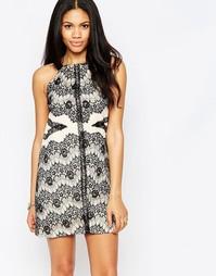 Цельнокройное платье с кружевной отделкой Daisy Street - Черный