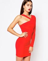Платье мини с ремешками на одно плечо Missguided - Красный