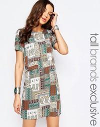 Цельнокройное платье с цветочным принтом Glamorous Tall - Мульти