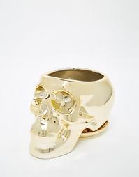 Золотистый горшок для цветов в форме черепа Sunnylife - Мульти