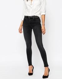 Выбеленные черные джинсы ASOS 'SCULPT ME' Premium - Выбеленный черный