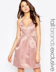 Платье миди для выпускного с лифом на бретельках True Decadence Tall