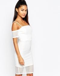 Сетчатое платье‑футляр с открытыми плечами Ariana Grande For Lipsy