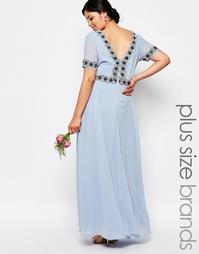 Платье макси для беременных с пышной юбкой и отделкой Lovedrobe