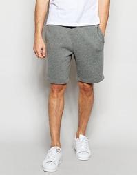 Трикотажные шорты с вышивкой Abercrombie & Fitch - Cc122 серый