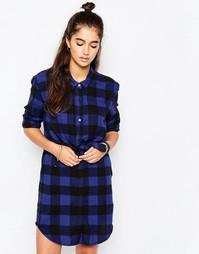 Платье-рубашка Cheap Monday Raw - В черную и синюю клетку