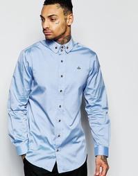 Оксфордская рубашка классического кроя Vivienne Westwood - Синий