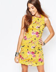 Туника с цветочным принтом Mela Loves London - Желтый