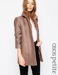 Фактурное пальто ASOS PETITE - Mink