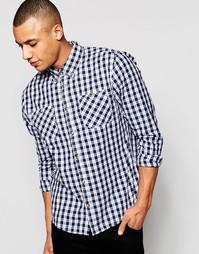Рубашка с принтом тартан D-Struct - Темно-синий