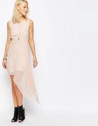 Короткое приталенное платье с асимметричным краем Religion Final