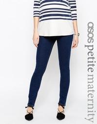 Синие джинсы скинни для беременных ASOS Maternity PETITE Ridley