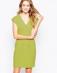 Платье с V-образным вырезом и завязкой сзади Closet - Лайм