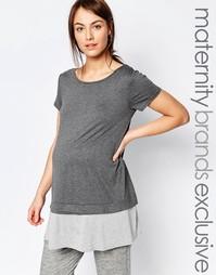 Двухслойная футболка для беременных Bluebelle Maternity - Мульти