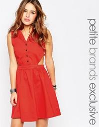 Платье в стиле вестерн с вырезами Noisy May Petite - Красный