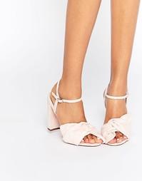 Сандалии на каблуке ASOS HEALER - Бледно-розовый