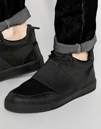 Черные кроссовки из неопрена с эластичными ремешками Dark Future