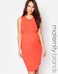 Трикотажное платье без рукавов Isabella Oliver - Оранжевый