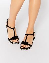 Черные сандалии с бантиками Faith Jessie - Черный