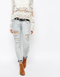 Выбеленные зауженные джинсы с заниженной талией Only Coral - Синий