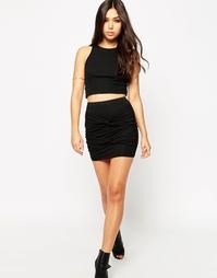 Мини-юбка с двойной витой отделкой ASOS - Черный