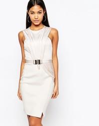 Платье-футляр с отделкой и цепочкой Michelle Keegan Loves Lipsy