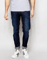 Темные джинсы слим Sisley - Синий
