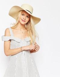 Соломенная шляпа ASOS Matador - Естественный