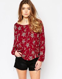 Блузка Free People Elsa - Pomegranate combo