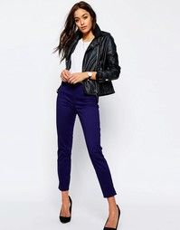 Зауженные брюки-сигареты в стиле casual ASOS - Темно-синий