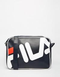 Черная сумка почтальона Fila Line Bieri - Синий