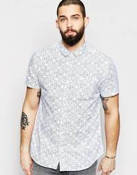 Рубашка с принтом и короткими рукавами Brave Soul - Белый