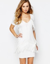 Платье мини с бахромой Supertrash Duoma - Белый