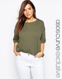 Oversize-футболка ASOS CURVE - Хаки
